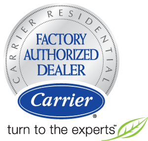 Carrier Factory Authorized Dealer Logo | Stiles Heating & Cooling
